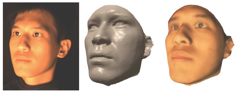 Model-Based 3D Face Capture with Shape-from-Silhouettes