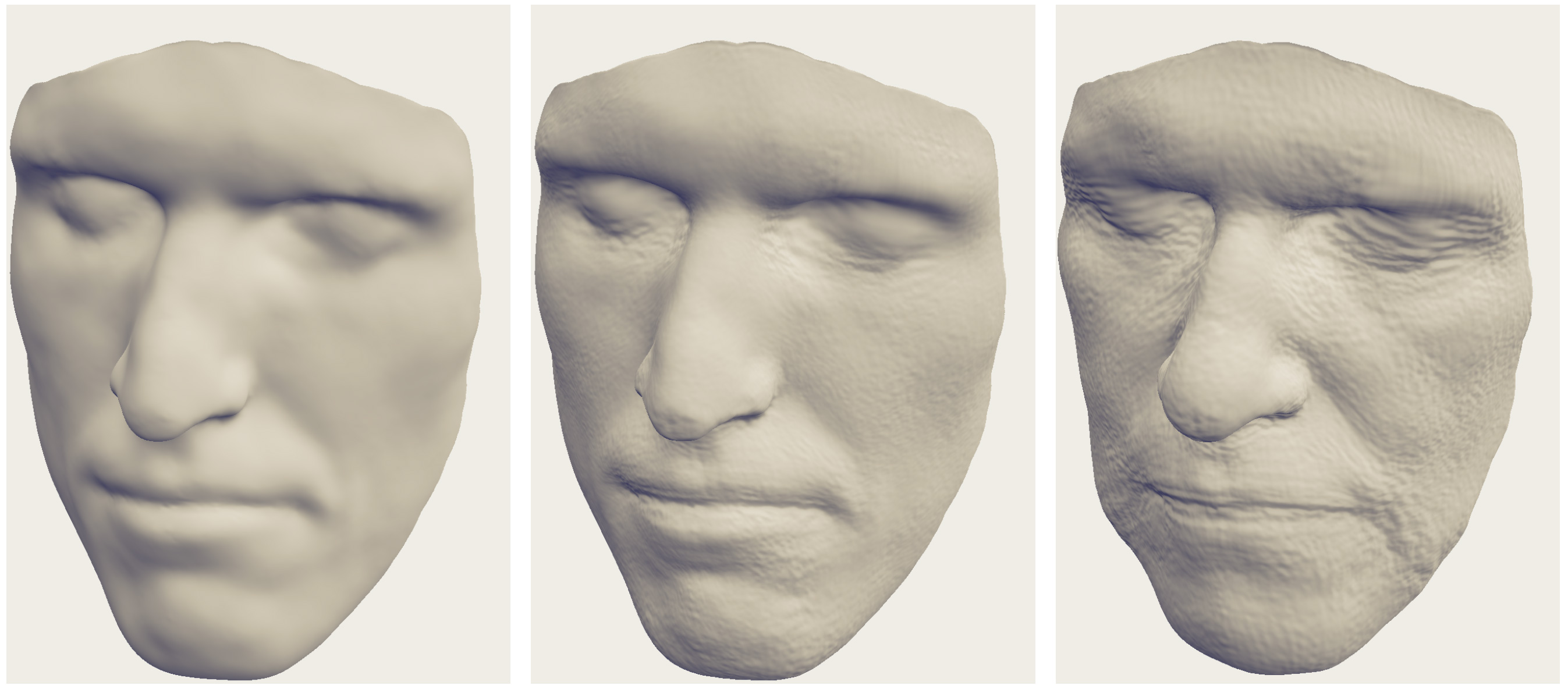 A Statistical Model for Synthesis of Detailed Facial Geometry