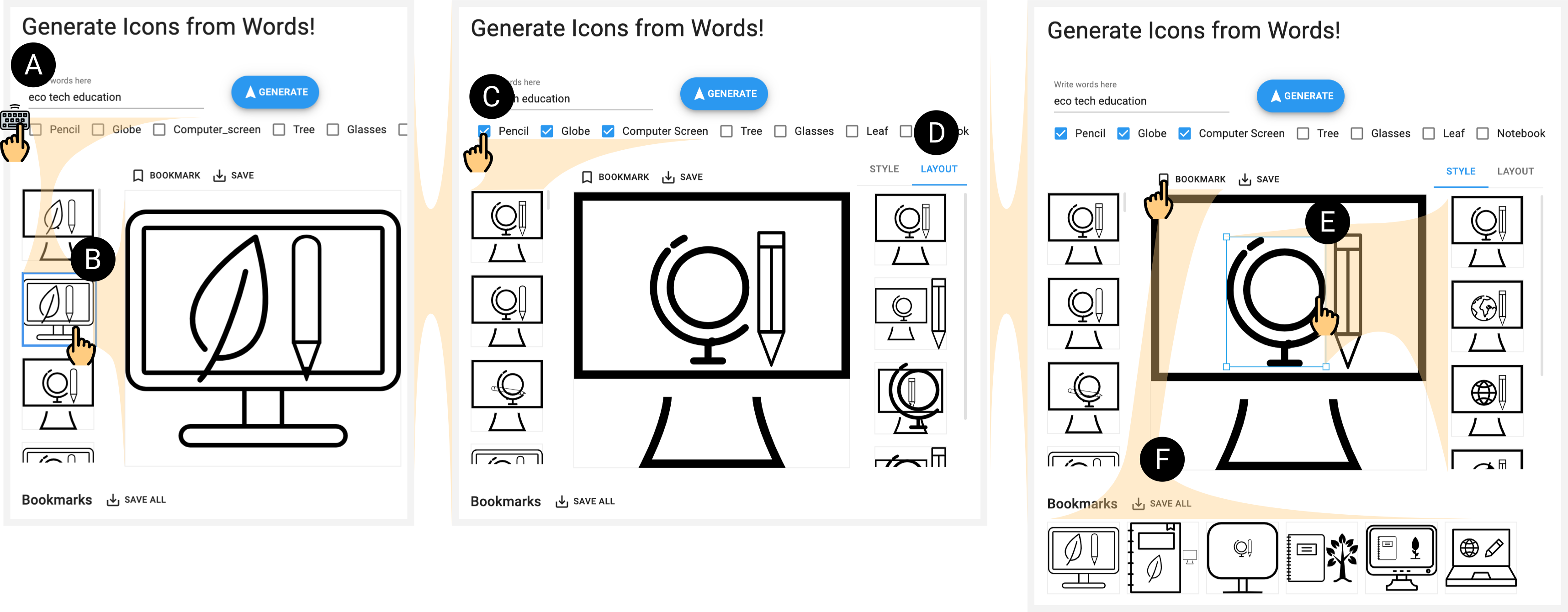 ICONATE: Automatic Compound Icon Generation and Ideation